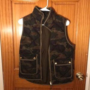 Camo vest from JCREW